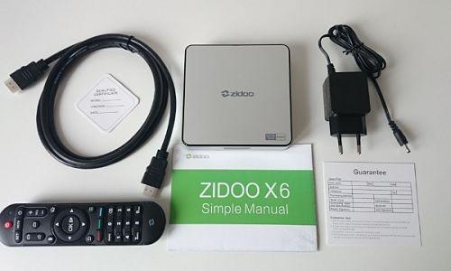 Zidoo X6 Pro Android 5.1 Contenido Caja