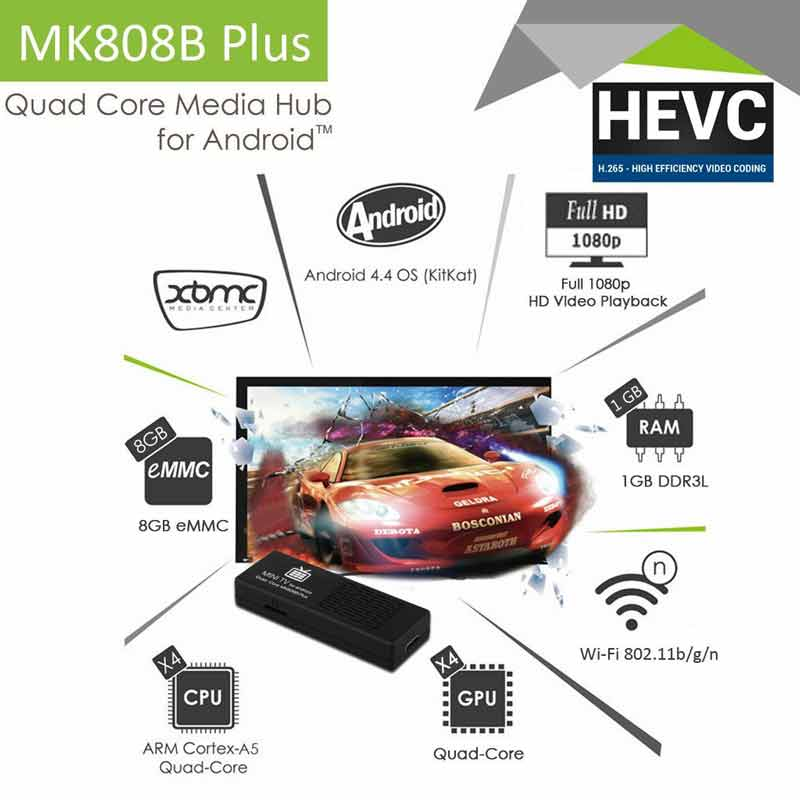 Android stick FLOUREON® MK808B soc