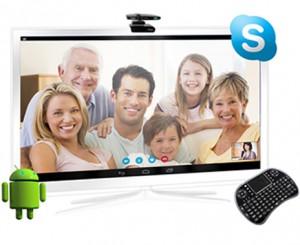 qué es un android tv con Videoconferencia
